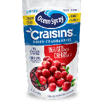 Ocean Spray Original Craisins infused with Cherry Juice 170g
