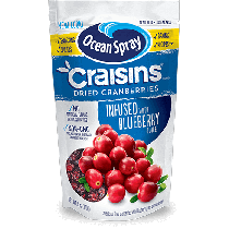 Ocean Spray Original Craisins infused with Blueberry Juice 170g