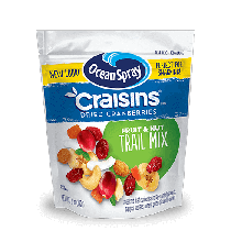 Ocean Spray Craisins Fruit and Nut Trail Mix 142g