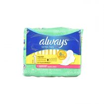 Always Ultra Thin Regular With Flexi-Wings Scented 16 Pcs