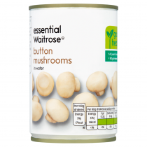 Essential Waitrose Button Mushrooms in Water 290g