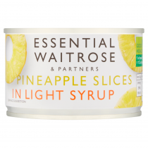 Essential Waitrose Partners Pineapple Slices in Light Syrup