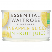 Essential Waitrose Partners Pineapple Slices in Fruit Juice