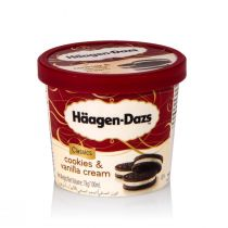 Haagen-Dazs Ice Cream Caramel Cookies & Vanilla Cream (500 ml)
