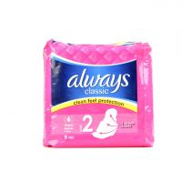 Always Classic Maxi Sanitary Pads With Wings 9 Pcs