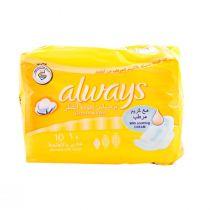 Always Sensitive Regular Wings 10 Pads Yellow
