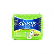 Always Classic Clean Feel Protection Standard Pads 10pcs