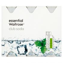 Essential Waitrose Club Soda 6x250ml