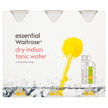 Essential Waitrose Dry Indian Tonic Water 6x250ml
