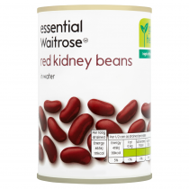 Essential Waitrose canned red kidney beans in water 300g