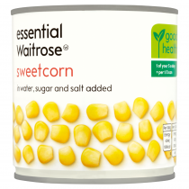Waitrose canned sweetcorn sugar & salt added 326g