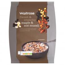 Waitrose Muesli Maple Triple Nut 1kg