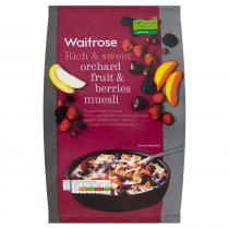 Waitrose Muesli Orchard Fruits & Berries 1kg