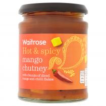 Waitrose Hot & Spicy Mango Chutney 320g