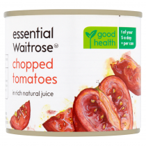 Essential Waitrose Chopped Tomatoes In Juice 227g