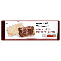 Essential Waitrose milk chocolate malted milk biscuits 250g