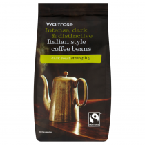 Waitrose Intense Dark & Distinctive Italian Style Coffee Beans 227g