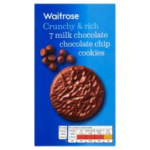 Waitrose Milk Chocolate Chip Cookies 150g