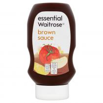 Essential Waitrose Squeezy Brown Sauce 480g