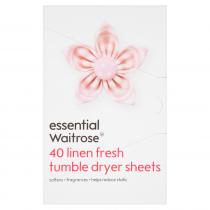 Essential Waitrose Linen Fresh Tumble Dryer Sheets 40