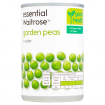 Essential Waitrose garden peas in water 300g