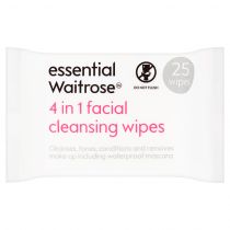 Essential Waitrose 4 In 1 Facial Cleansing Wipe 25