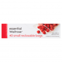 Essential Waitrose Reclosable Small Bags 40