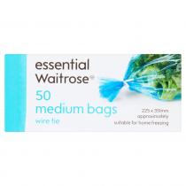 Essential Waitrose Frozen Medium Bags 50