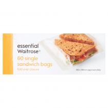 Essential Waitrose Single Sandwich Bags 60