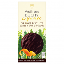 Waitrose Duchy Organic orange biscuits coated in dark chocolate 100g