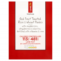 Waitrose LOVE life Red Fruit & Wheat Flakes 375g