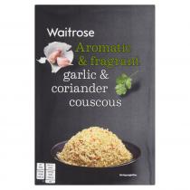 Waitrose garlic & coriander couscous 110g