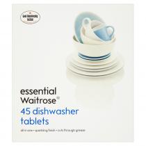 Essential Waitrose Dishwasher Original Tablets 810g