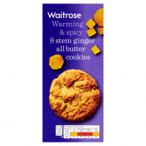 Waitrose 8 Stem Ginger All Butter Cookies 200g