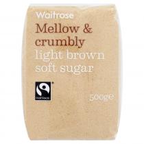 Waitrose Light Brown Soft Sugar 500g