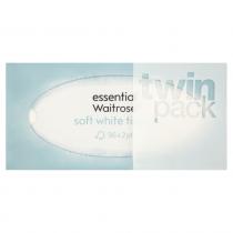 Essential Waitrose Soft White Tissues 2x96