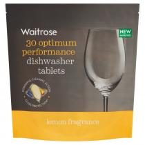 Essential Waitrose Dishwasher Lemon Tablets 379.5g