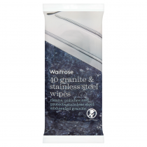 Waitrose Granite & Stainless Steel Wipes 40