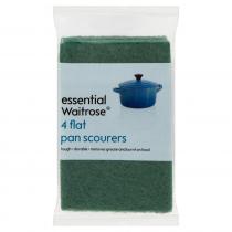 Essential Waitrose Flat Pan Scourers 4