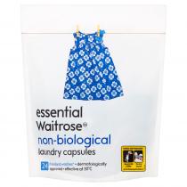 Essential Waitrose Non-Biological Laundry Capsules 600g