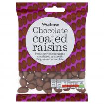 Waitrose Belgian chocolate raisins 135g
