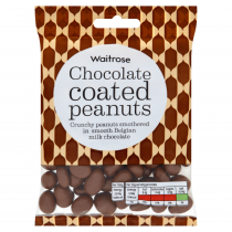 Waitrose Belgian chocolate peanuts 135g