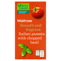 Waitrose passata with chopped basil 500g