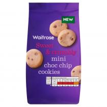 Waitrose Mini Choc Chip Cookies 100g