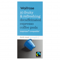 Waitrose Espresso Decaffeinated Coffee Pods 10