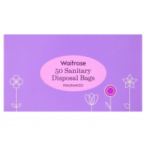 Waitrose Fragrant Sanitary Disposal Bags 50