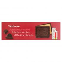 Waitrose continental dark chocolate butter biscuits 125g