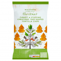 Waitrose Christmas Turkey & Stuffing Tortilla Chips 200g