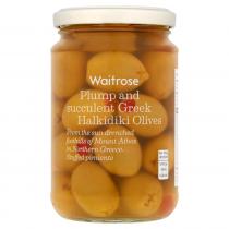 Waitrose Greek olives stuffed with pimiento 300g