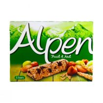 Alpen Fruit & Nut with Milk Chocolate (5 Pieces) 140g